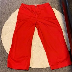 Chico's Red Capris. Wash-Dry-Wear!  Size 2